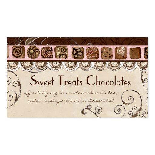 Sweet Treats Dessert Bakery Business Cards
