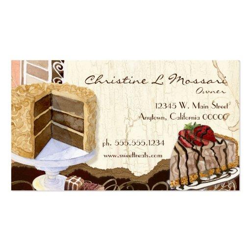 Sweet Treats Dessert Bakery Business Cards (back side)