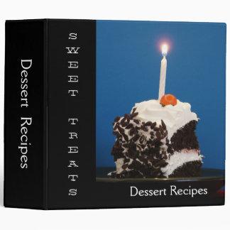 Sweet Treats Dessert Recipes 3 Ring Binders