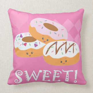 Sweet Treats - Donuts! Throw Pillow