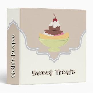 Sweet Treats latte, ivory recipe binder