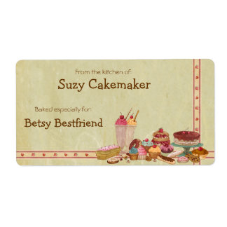 Sweet Treats Personalized Labels Custom Shipping Labels