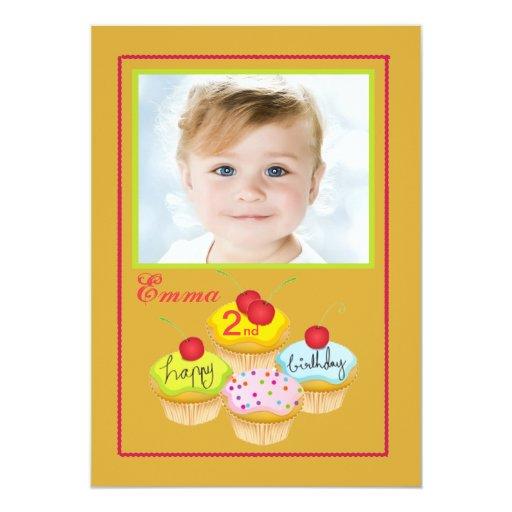 Sweet Treats - Photo Birthday Party Invitation