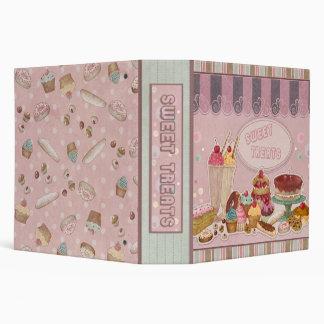 Sweet Treats Pink Vinyl Binder