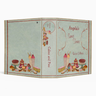 Sweet Treats Recipe Collection 3 Ring Binder