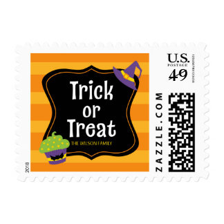 Sweet Trick or Treat Halloween Party Postage