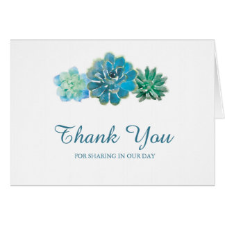 Sweet Trio Succulents | Thank You Card