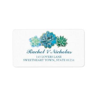 Sweet Trio Succulents Watercolor | ADDRESS Address Label