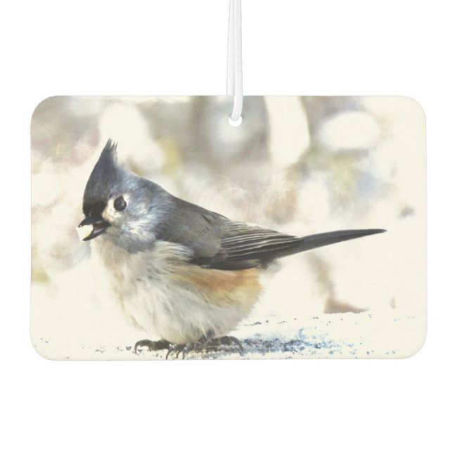 Sweet Tufted Titmouse Bird Air Freshener