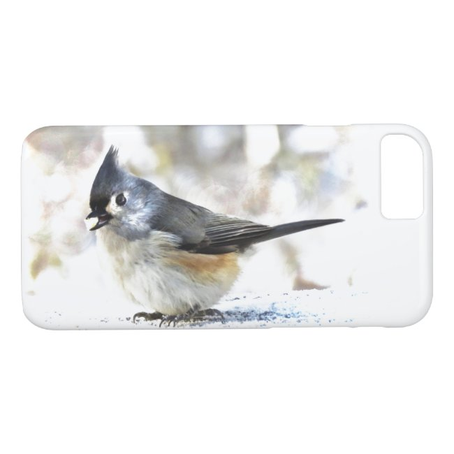 Sweet Tufted Titmouse Bird iPhone 8/7 Case