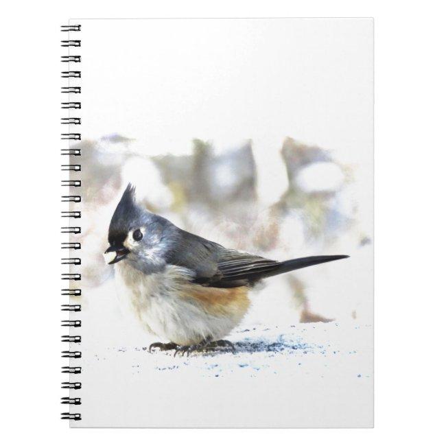 Sweet Tufted Titmouse Bird Notebook