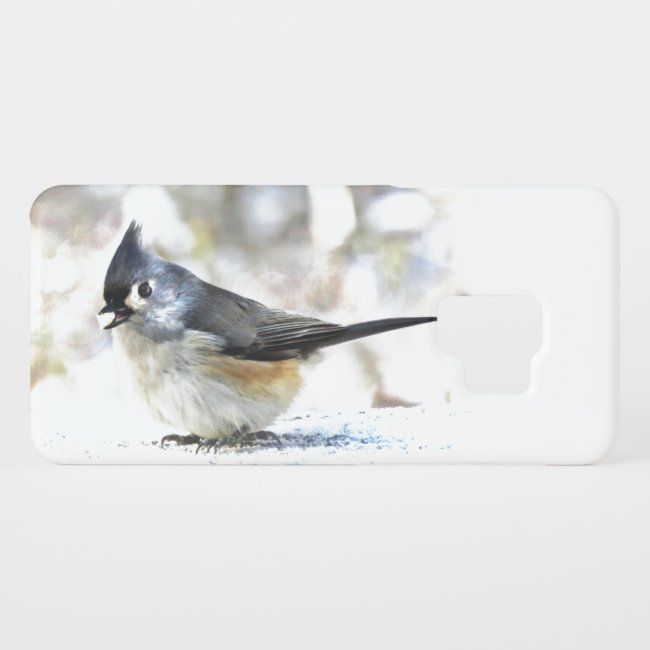 Sweet Tufted Titmouse Bird Samsung Galaxy S9 Case