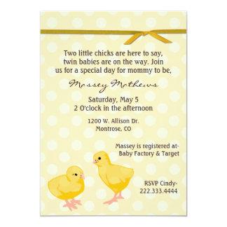 Sweet Twin Chicks Shower Invitation