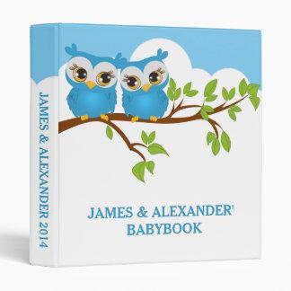 Sweet Twins Owls Boy Baby Photo Album Binder