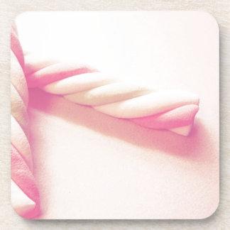 Sweet Twist Candy Photo Beverage Coaster
