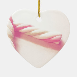 Sweet Twist Candy Photo Ceramic Ornament