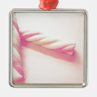 Sweet Twist Candy Photo Metal Ornament