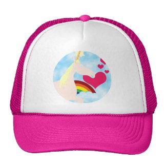 Sweet Unicorn and Rainbow Badge Trucker Hat