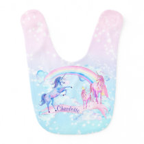 Sweet Unicorn Personalized Baby Bib