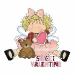 sweet valentine blonde little girl cutie cut out