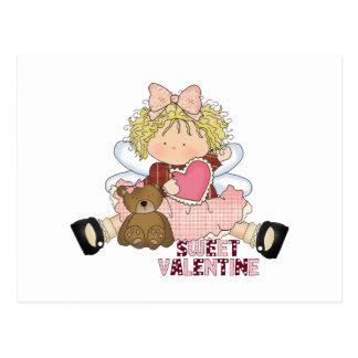 sweet valentine blonde little girl cutie postcard