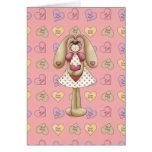 sweet valentine bunny rabbit greeting card