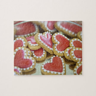 sweet valentine cookies in a tin biscuit box jigsaw puzzle