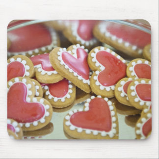 sweet valentine cookies in a tin biscuit box mouse pad