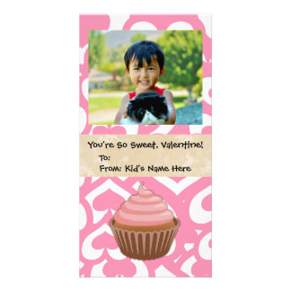 Sweet Valentine Cupcake Kid's Picture Card