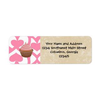 Sweet Valentine Cupcake Return Address Label