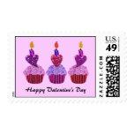 Sweet Valentine Cupcakes Postage Stamps
