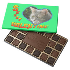 Sweet Valentine Heart Green Chocolate Box