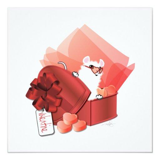 Sweet Valentine Heart 5.25x5.25 Square Paper Invitation Card