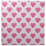 Sweet Valentine Hearts Cloth Napkins