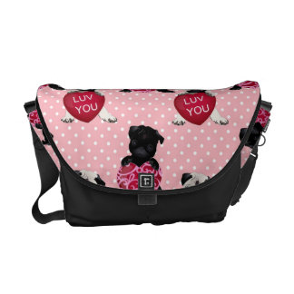 Sweet Valentine Pugs (7).jpg Courier Bags