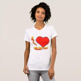 Sweet Valentine Red Heart Women's Raglan T-Shirt