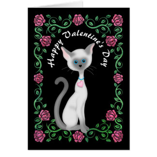 Sweet Valentine sentiment Cat add name card