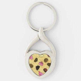 Sweet Valentine - Valentine's Day Candy Pattern Keychain