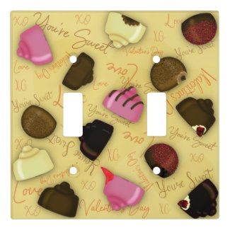Sweet Valentine - Valentine's Day Candy Pattern Light Switch Cover