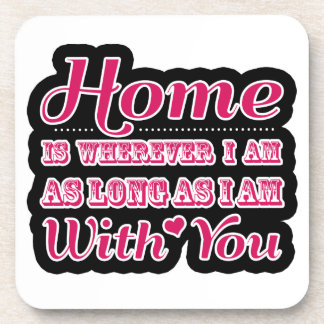 Sweet Valentine's Day Saying Quote Beverage Coaster