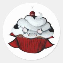 artsprojekt, cute vampire, vampire gift, halloween, halloween cupcake, cute halloween, cupcake, halloween gift, kawaii, vampire, cute, kawaii cupcake, sweet halloween, halloween design, halloween idea, trick or treat, kawaii vampire, kawaii halloween, halloween present, vampire present, cupcake gift, cupcake present, Sticker with custom graphic design