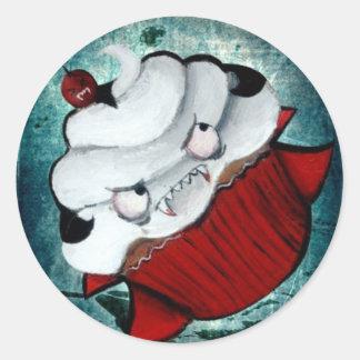 Sweet Vampire Cupcake Classic Round Sticker