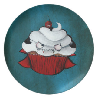 Sweet Vampire Cupcake Dinner Plate