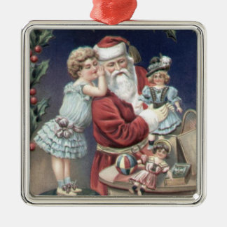 Sweet Victorian Christmas Image Ornamentq Metal Ornament