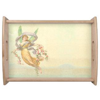 Sweet Victorian Fairy Serving Platters