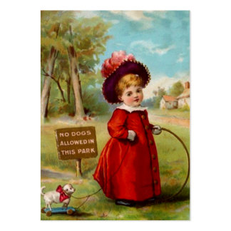 Sweet Victorian Style Gift Tags ~ Miss Dog-Walker Business Cards