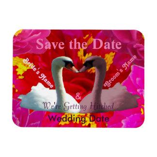 Sweet Vigorosa Swans Save the Date Rectangular Photo Magnet