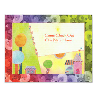 Sweet Village New Home Party Invitations