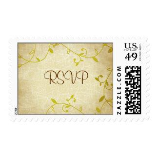 Sweet Vines Crackle Wedding Postage