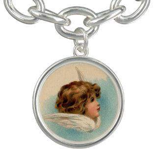 Sweet Vintage Angel Charm Bracelet